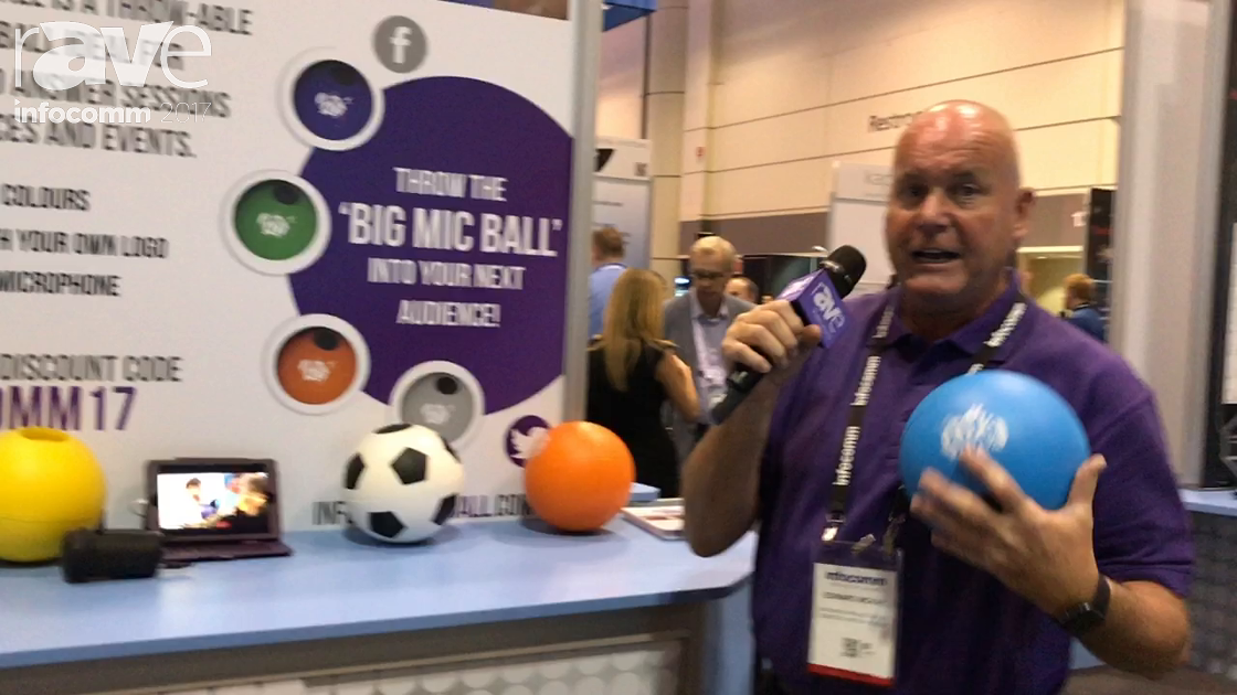 InfoComm 2017: Big Purple Productions Exhibits Big Mic Ball