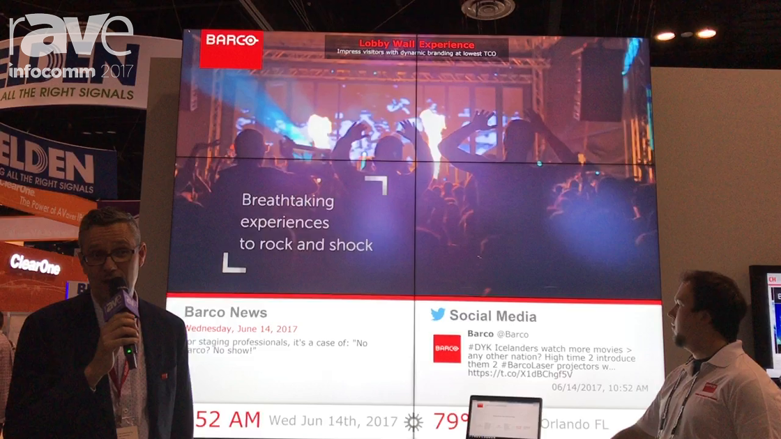InfoComm 2017: Barco Features Its Lobby Wall Experience