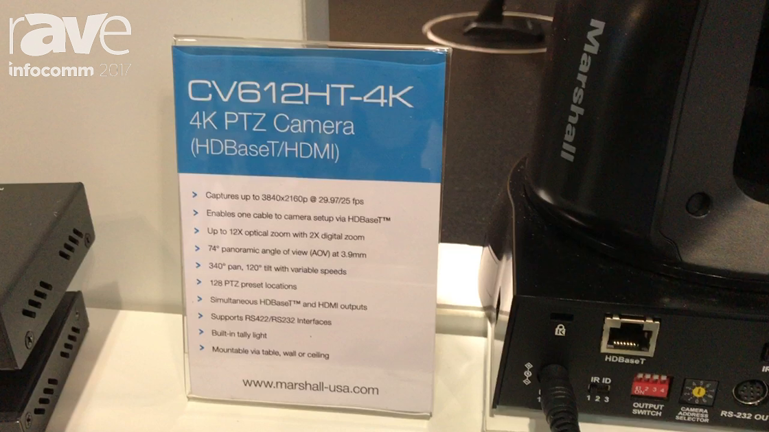 InfoComm 2017: Marshall Electronics Discusses the CV612HT-4K Camera