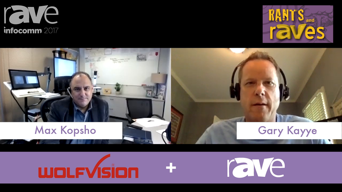 InfoComm 2017: Wolfvision Demos the Cynap 365 Live on rAVe RADIO