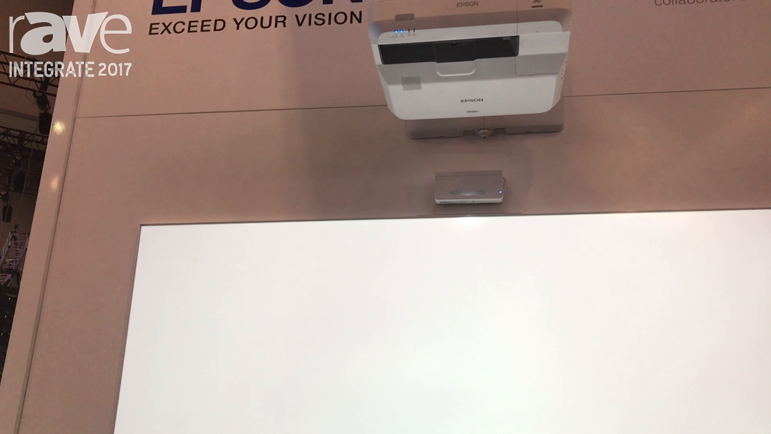 Integrate 2017: Epson Demos the EB 1470Ui Short Throw Projector in MeetingMate Application