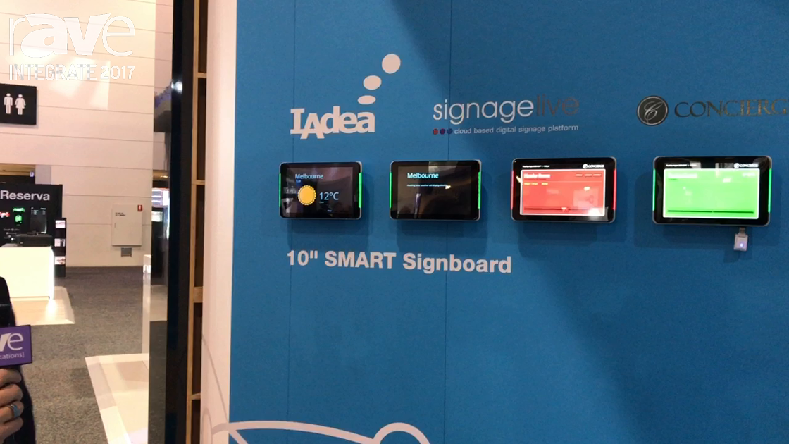 Integrate 2017: signagelive Demos Its Calendar Widget on the Quantum Sphere Stand