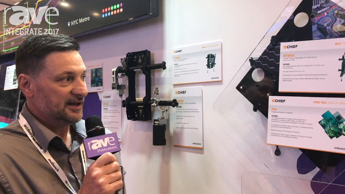 Integrate 2017: Chief Highlights FRA Freestyle Rotation Accessory for Display Mounts on Midwich Stand