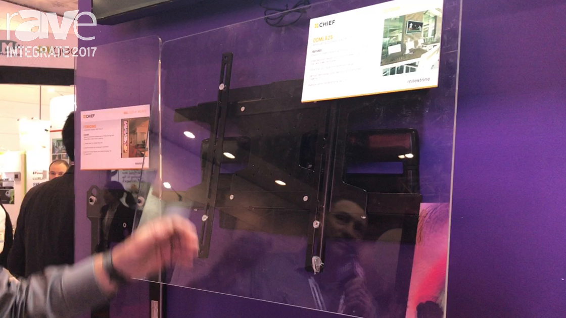 Integrate 2017: Chief Showcases the ODMLA25 Articulating Outdoor Wall Mount on Midwich Stand
