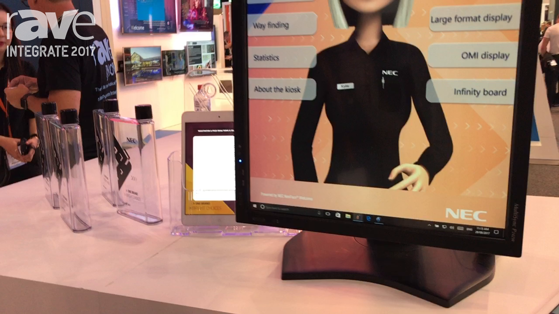 Integrate 2017: NEC Display Demos the NEC Welcome Kiosk With Facial Recognition
