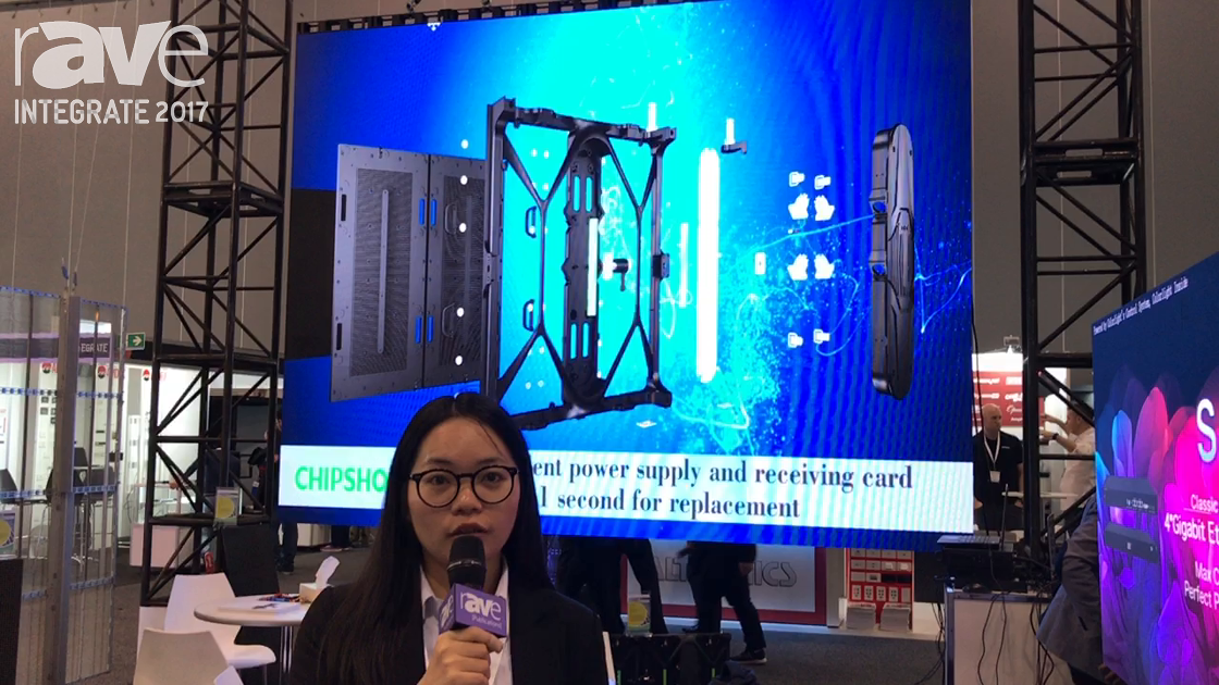 Integrate 2017: Shenzhen Chip Optech Demos P3.6 mm LED Display for Rental and Staging