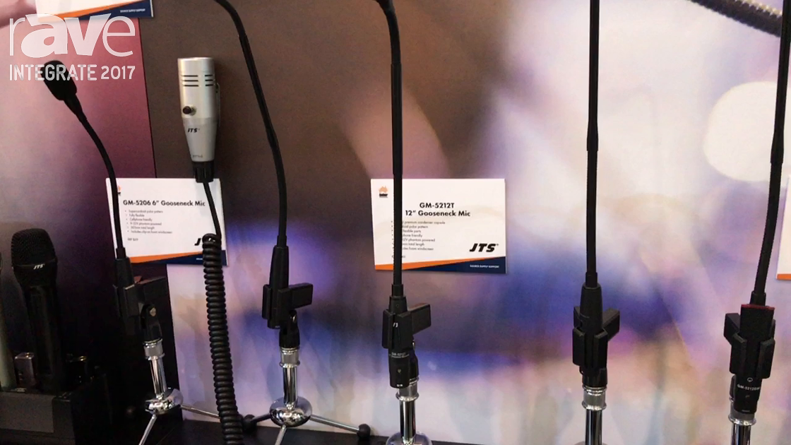 Integrate 2017: JTS Features Range of Installation Mics on the Amber Technologies Stand