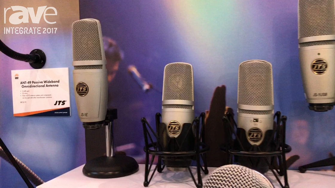 Integrate 2017: JTS Shows Its Recording Microphone Range on the Amber Technologies Stand