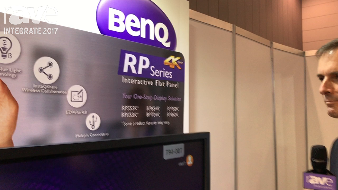 Integrate 2017: BenQ Adds the RP Series of Interactive Flatpanels on the Multimedia Technology Stand