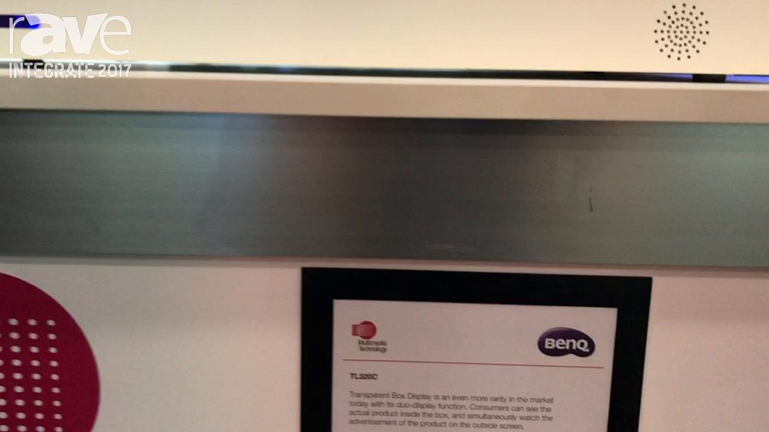 Integrate 2017: BenQ Shows the TL320C Transparent Box Display on the Multimedia Technology Stand