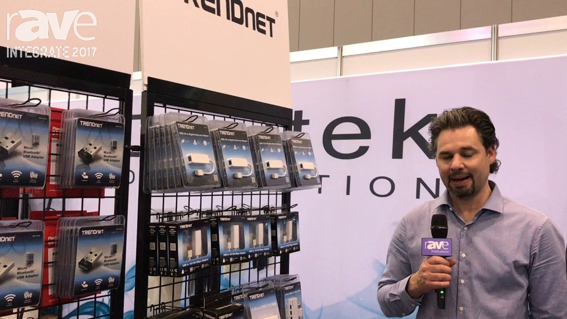 Integrate 2017: TRENDnet Shows the USB to Ethernet Adapter Range on the Dueltek Distribution Stand