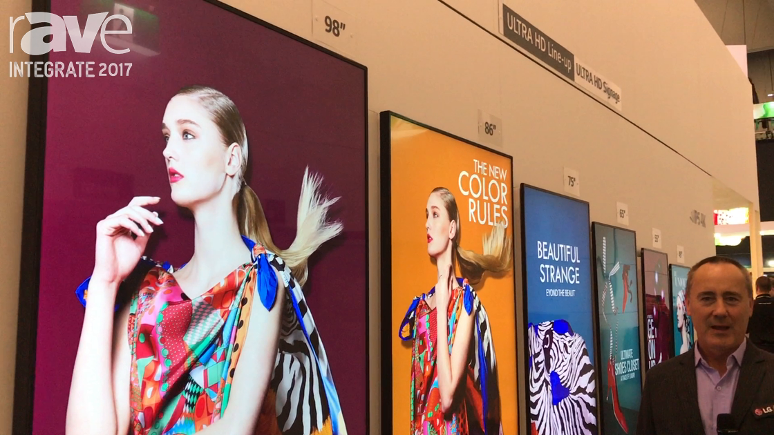 Integrate 2017: LG Higlights Its Line-up of Ultra HD Signage Displays With IPS