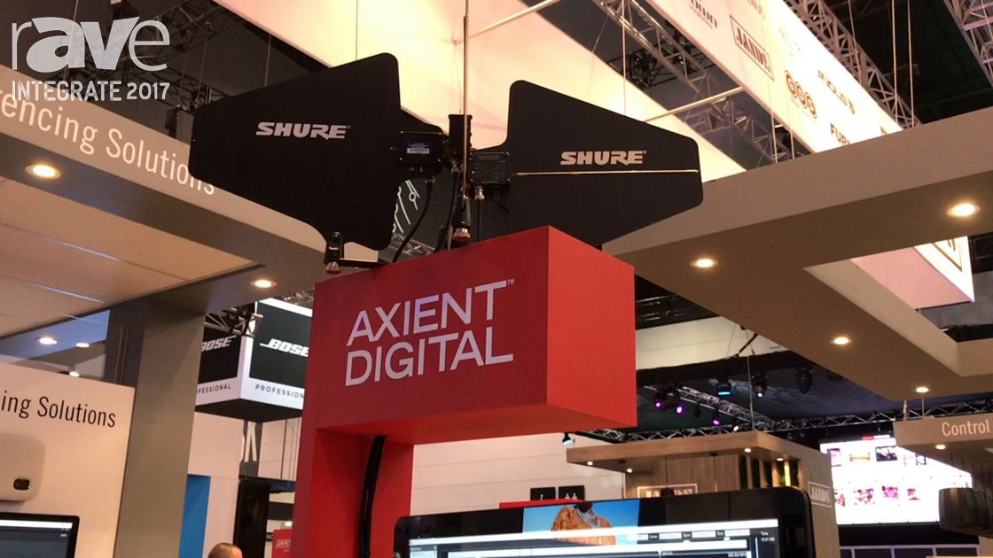 Integrate 2017: Shure Intros the Axient Digital Radio Microphone System on the Jands Stand