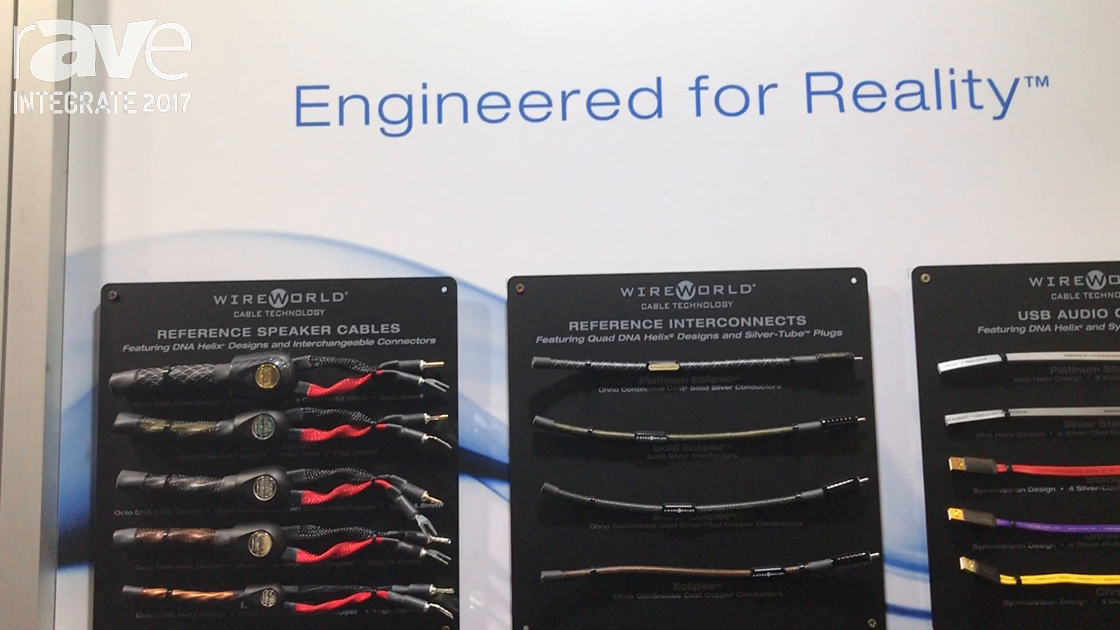 Integrate 2017: Wireworld Cable Technology Shows Speakers, Cat8 Cables on Canohm Australia Stand
