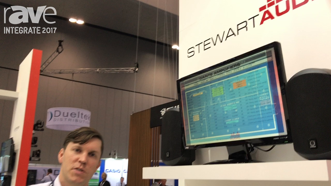 Integrate 2017: Stewart Audio Shows Plenum-Rated AV25-2 Amp, PoE Amps on the Madison Technogies Stan