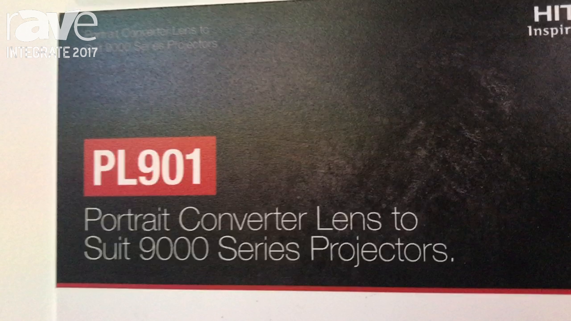 Integrate 2017: Hitachi Demos the PL910 Portrait Converter Lens for 9000 Series Projectors