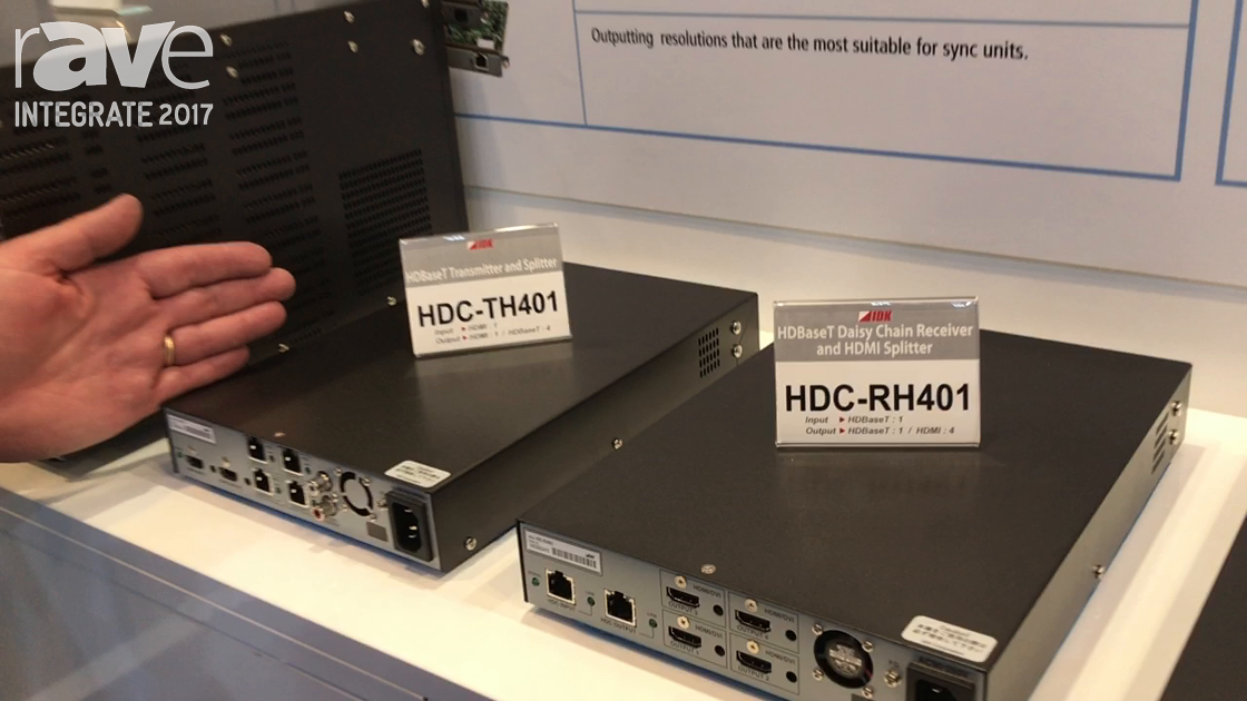 Integrate 2017: IDK Highlights Its HDBaseT Transmitter and Splitters on the AVglue Stand