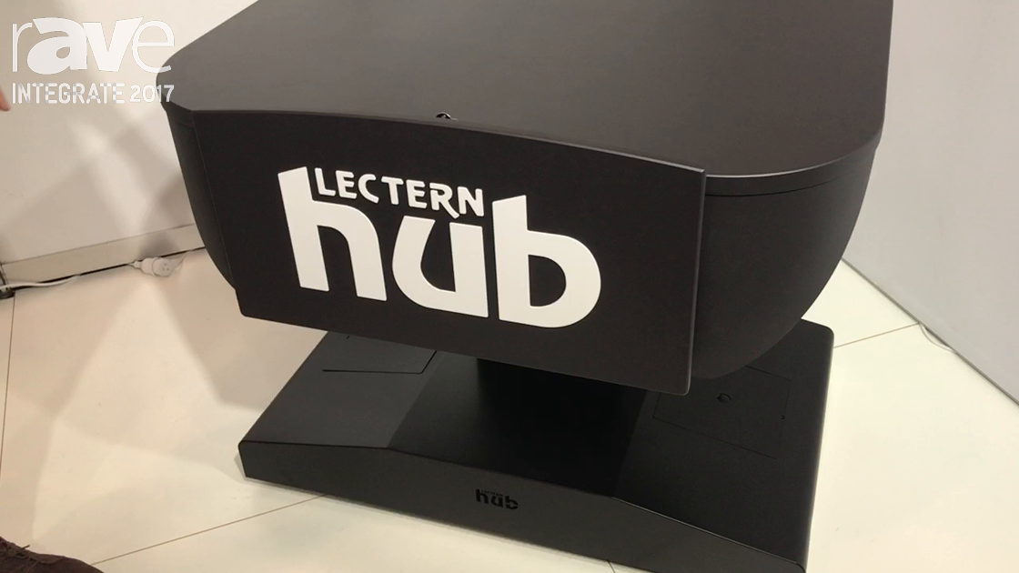 Integrate 2017: Lectern Hub Showcases Its Portable MML1 Multimedia Lectern With Casters