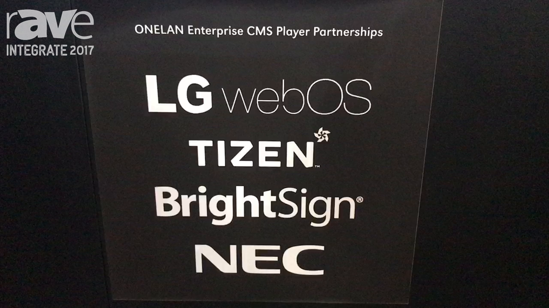 Integrate 2017: ONELAN Shows DS System on Chip Partners LG, Samsung, NEC Display, Brightsign