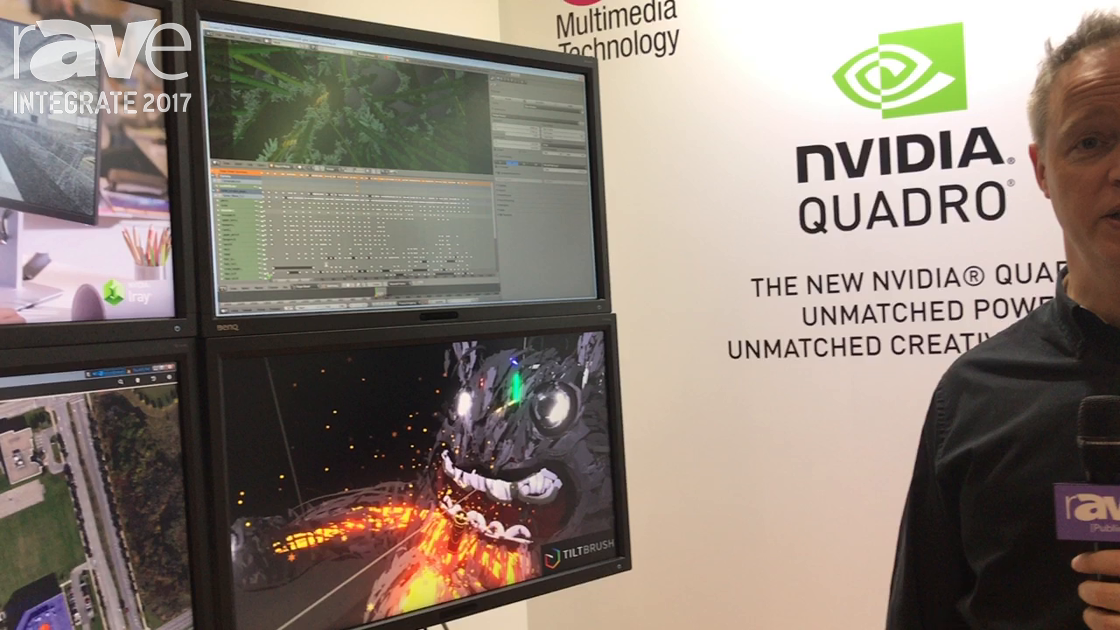 Integrate 2017: nvidia Offers a Demonstration of Its P6000 Card for CCTV Monitoring, Graphics Design