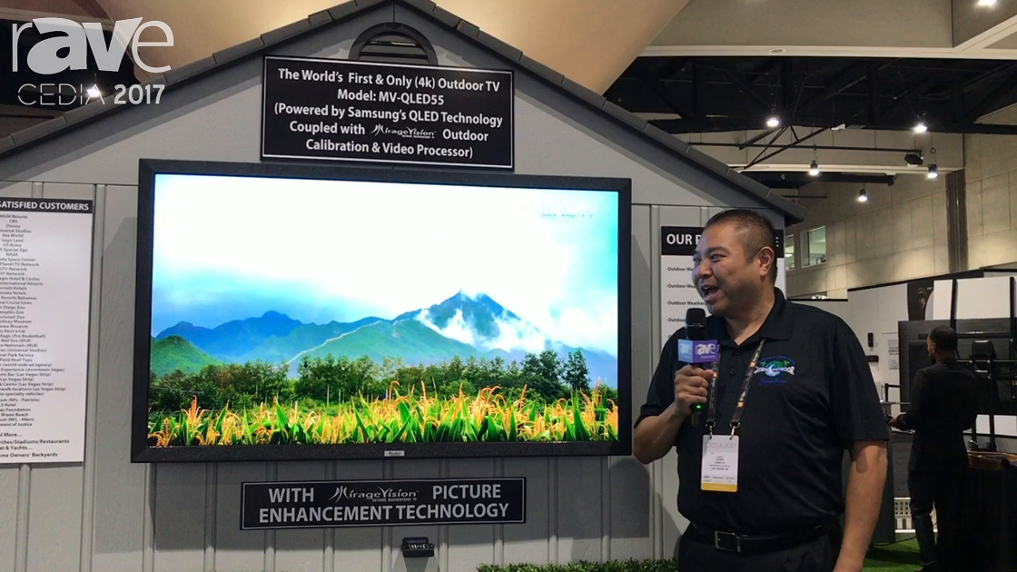CEDIA 2017: MirageVision Showcases Outdoor TV With Samsung QLED in a Protective Casing