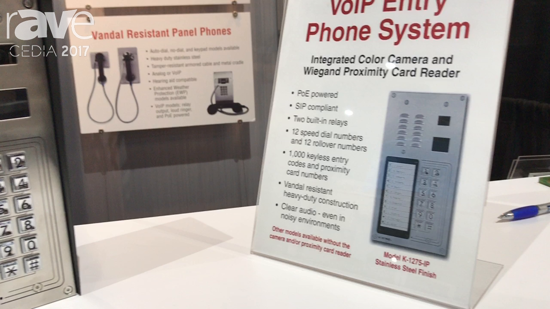 CEDIA 2017: Viking Electronics Showcases Its K-1275-IP VoIP Entry Phone System