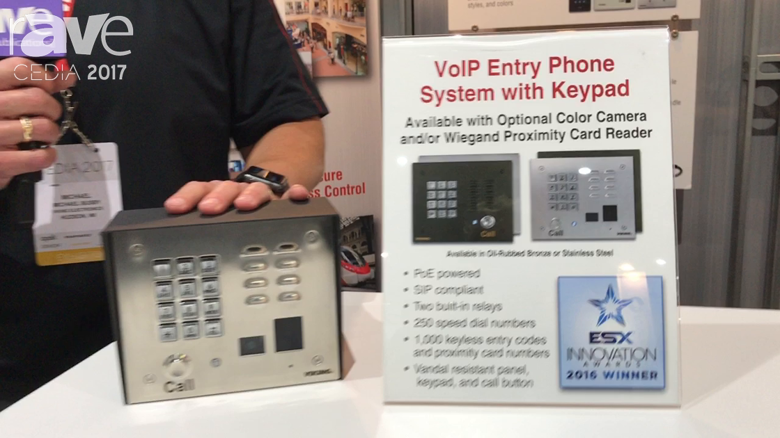 CEDIA 2017: Viking Electronics Highlights Its VoIP Entry Phone System With Keypad