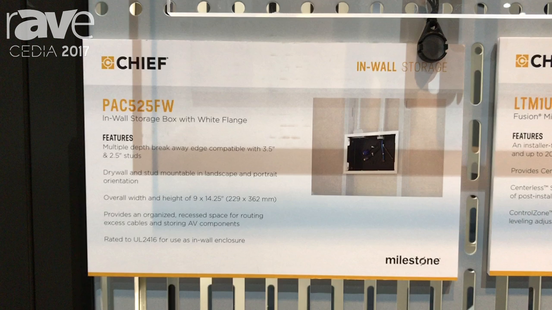 CEDIA 2017: Chief Talks About PAC525FW In-Wall Storage Box
