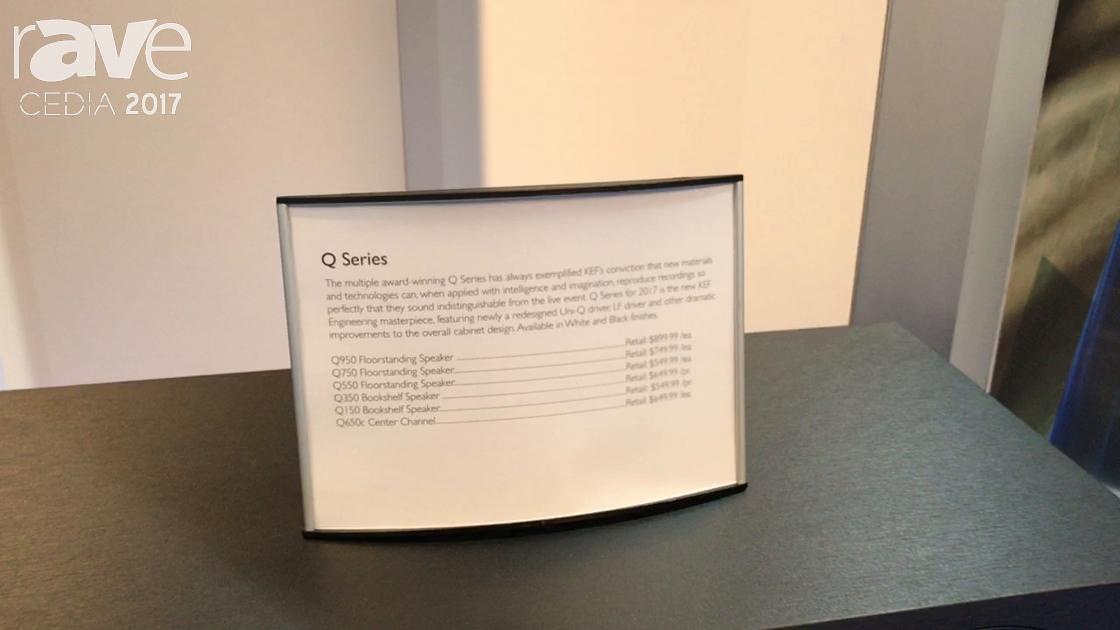 CEDIA 2017: KEF Displays Q Series Speaker Line