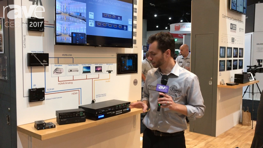 CEDIA 2017: Key Digital Debuts KD-MLV4x2Pro MultiView Seamless 4×2 Matrix Switcher