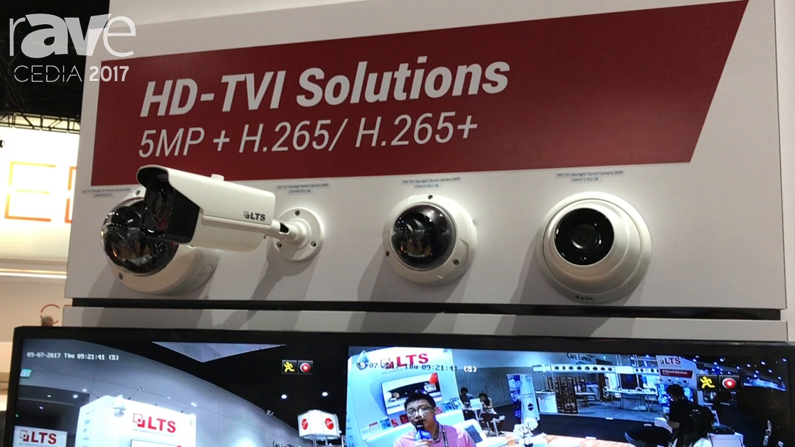 CEDIA 2017: LTS Displays HD-TVI Starlight Turret Camera 5MP