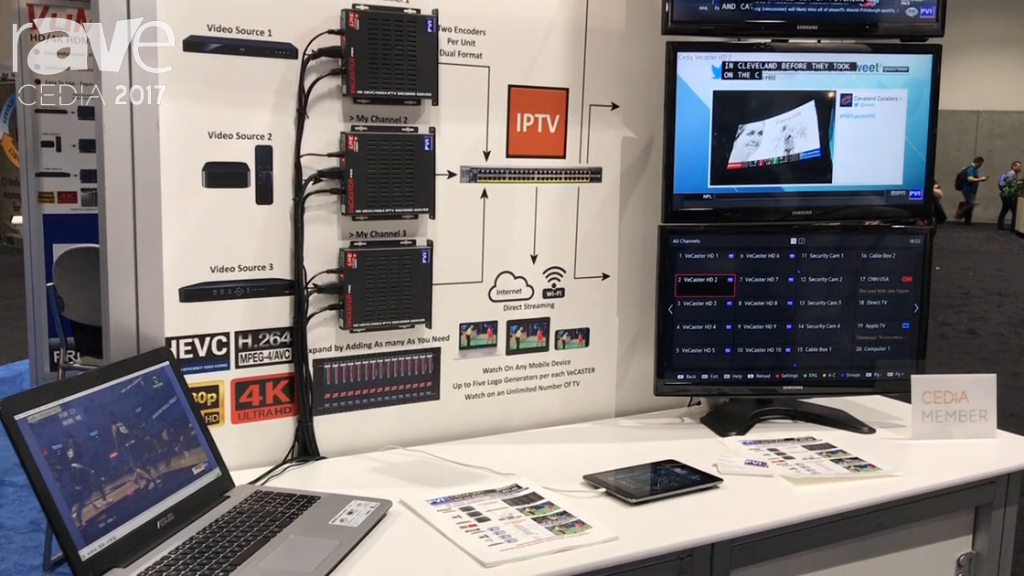 CEDIA 2017: Pro Video Instruments Displays VECASTER Pro Series HDMI Over IP TV Distribution