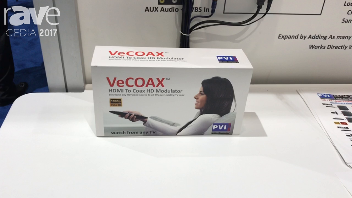 CEDIA 2017: Pro Video Instruments Displays VECOAX HDMI to Coax HD Modulator