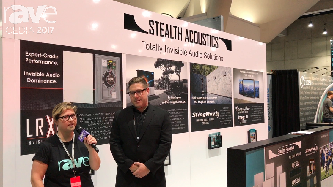CEDIA 2017: Sara Abrons Talks to Brian Azzano of Stealth Acoustics