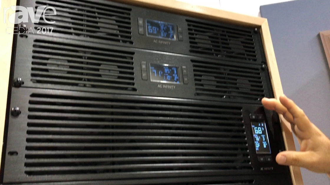 CEDIA 2017: AC Infinity Features Different Size Rack Fan Intake and Exhaust