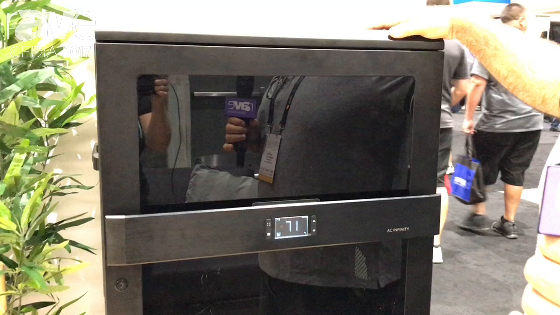 CEDIA 2017: AC Infinity Showcases Its Prototype Rack With Built-In Quiet Cooling, Thermocontrollers