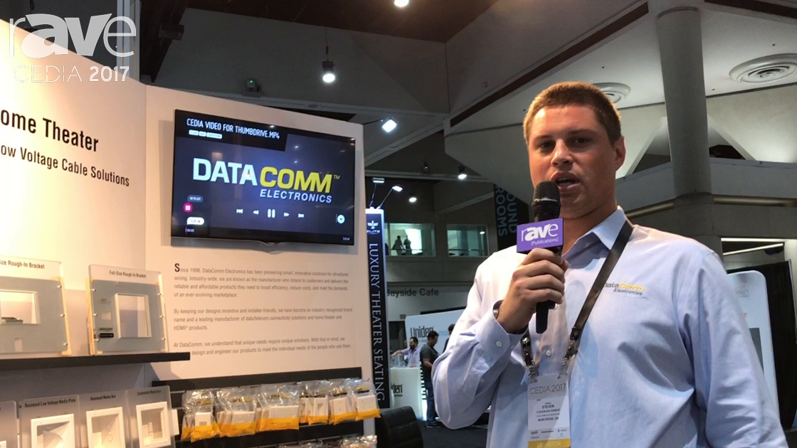CEDIA 2017: Datacomm Electronics Shows Plastic Enclosure and Trough System for Managing Bulk Wire