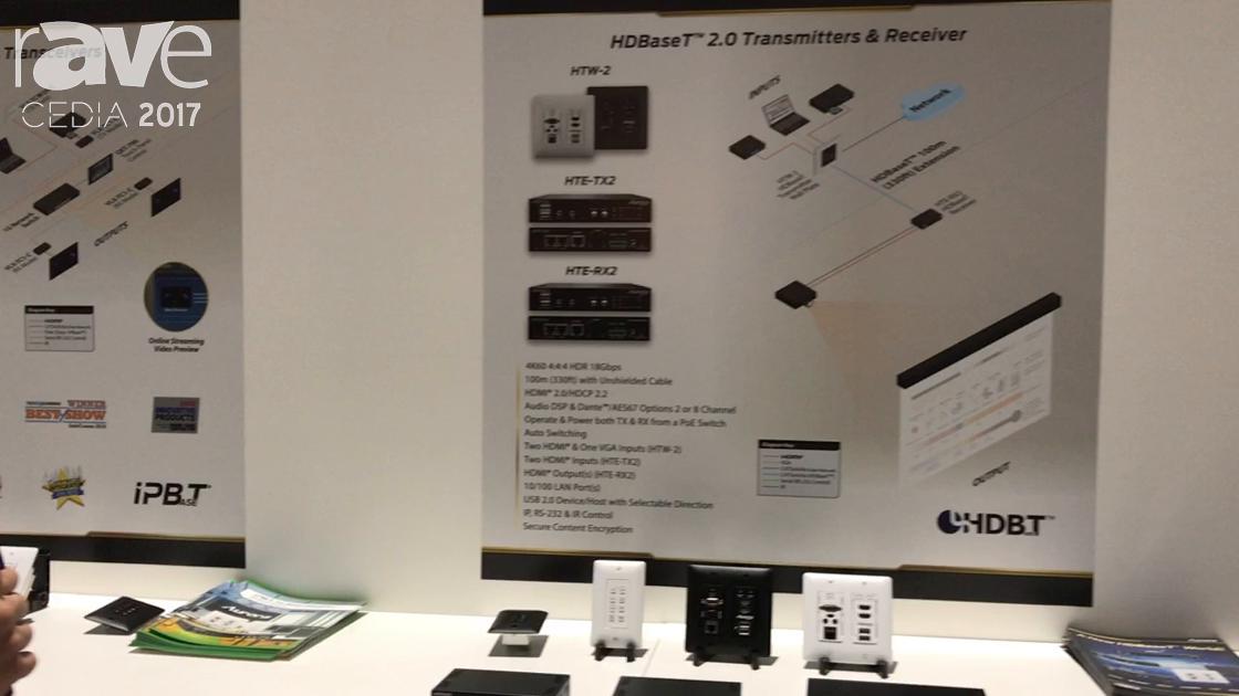 CEDIA 2017: Aurora Intros HTE-TX2 HDBaseT 2.0 Transmitter