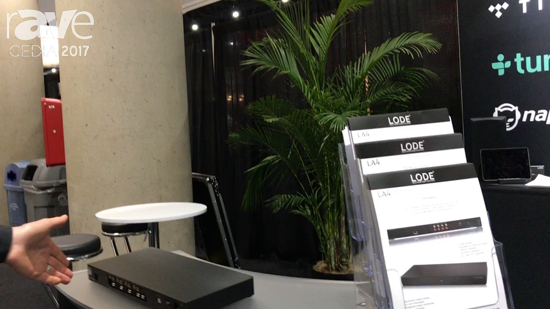 CEDIA 2017: LODE Audio Highlights Its Four-Zone Music Server With Digital Outputs
