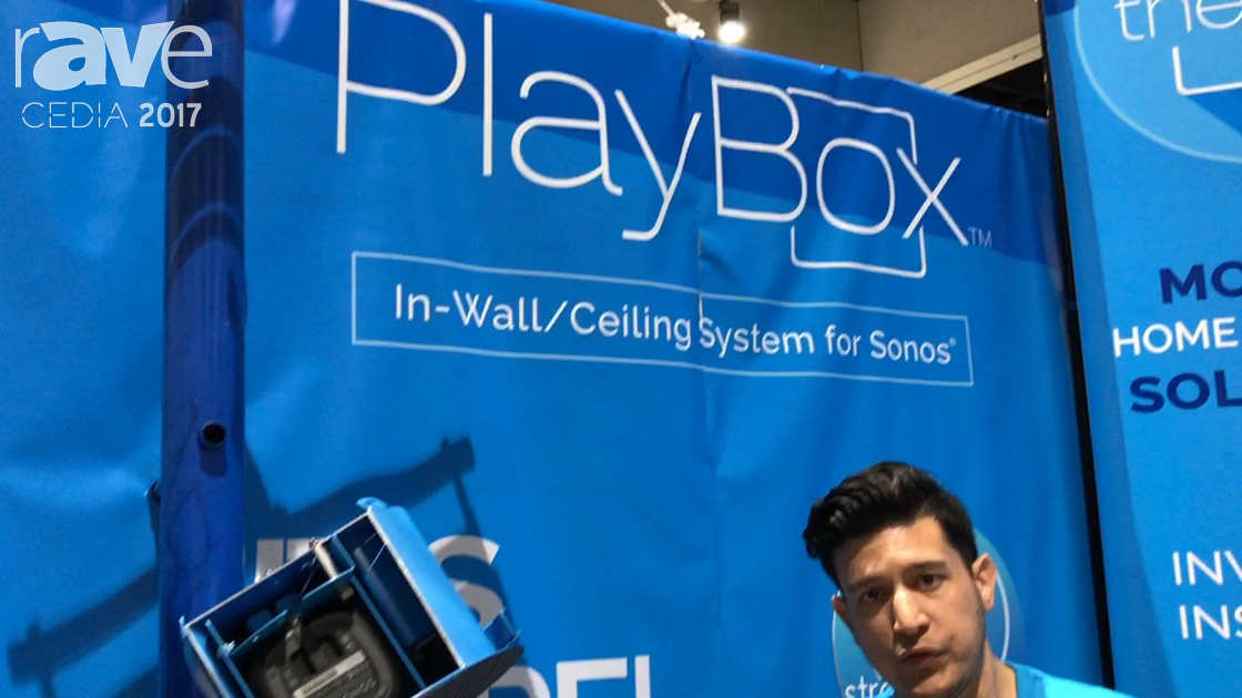CEDIA 2017: Thenos Shows Off PlayBox In-Wall/Ceiling System for Sonos