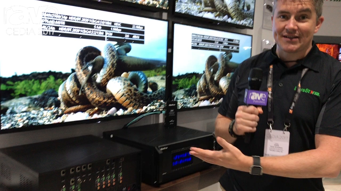 CEDIA 2017: WyreStorm Displays MX-1010-HDBT-H2X 4K HDR HDBaseT 5Play Matrix Switcher