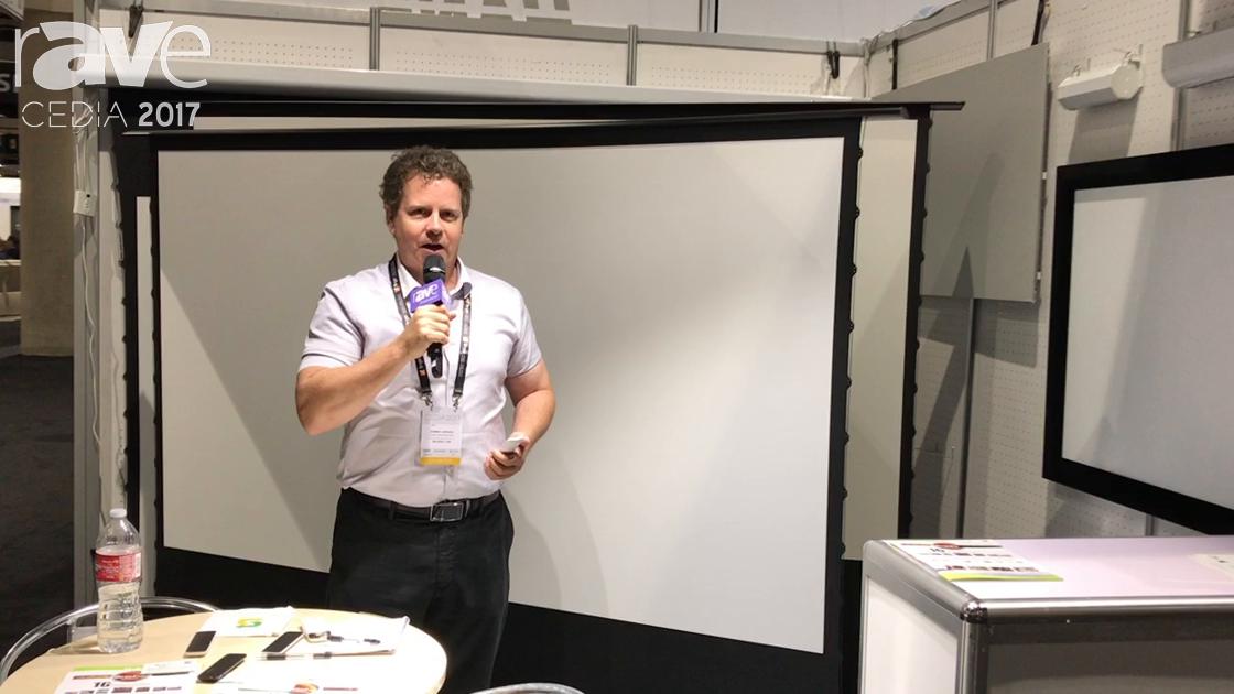 CEDIA 2017: Grand Screen Shows Off Electric Flexible Tension Floor Screen