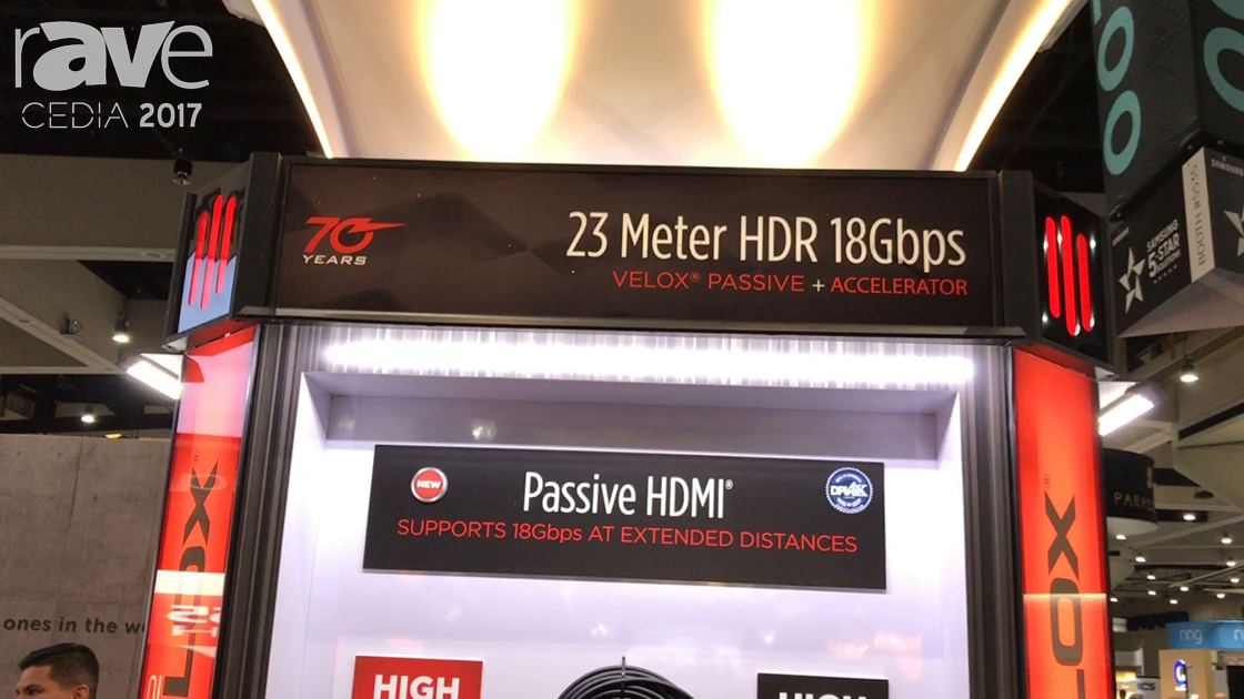 CEDIA 2017: Metra Home Theater Group Shows Off 23m Velox Passive HDMI Cable