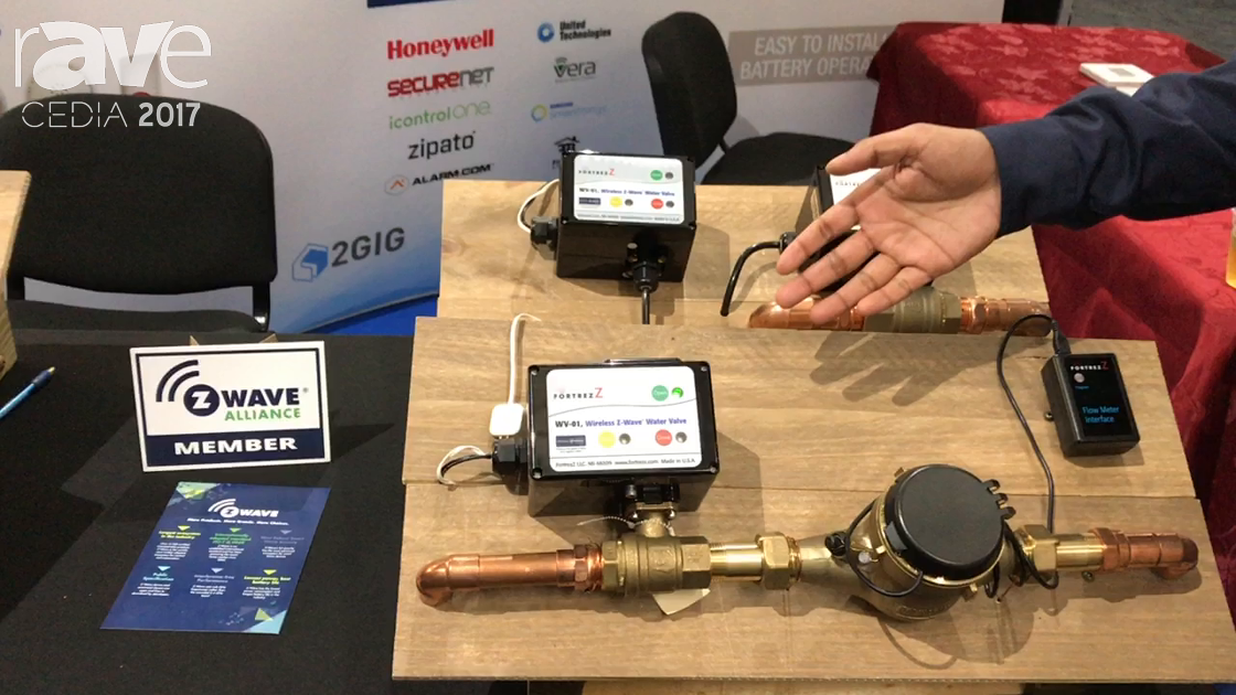 CEDIA 2017: FortrezZ Presents WV-01 Wireless Z-Wave Water Valve