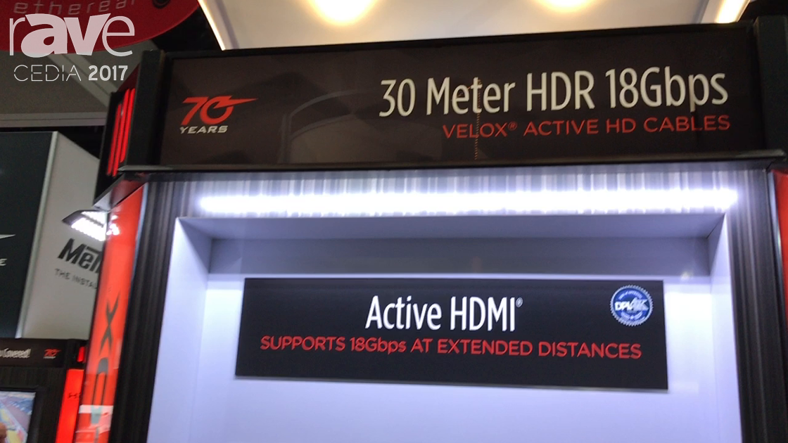 CEDIA 2017: Metra Home Theater Group Talks About 30m Velox Active HDMI Cable