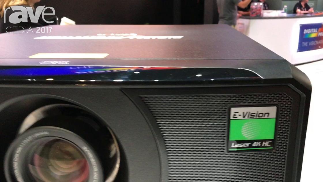 CEDIA 2017: Digital Projection Demos E-Vision Laser 4K Projector
