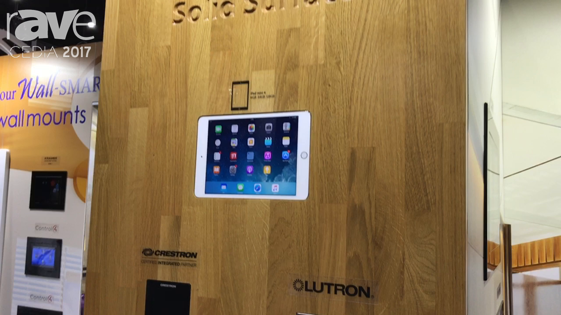 CEDIA 2017: Wall-Smart Showcases Solid Surface Wall Mounts For Crestron and Control4 Touch Screens