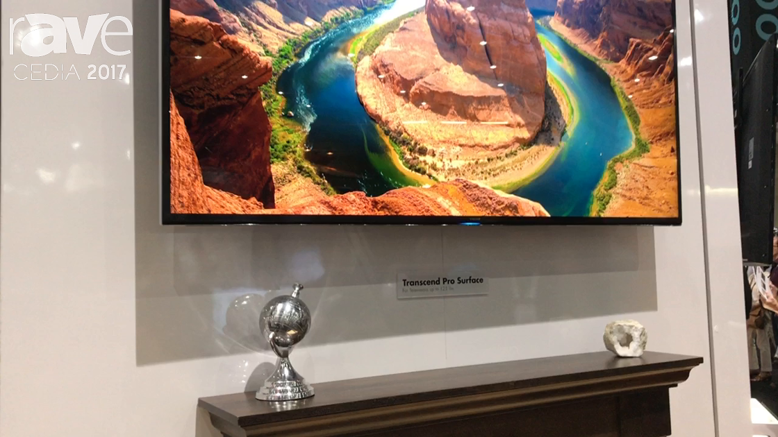 CEDIA 2017: Nexus 21 Shows Off Transcend Pro Surface In-Wall Pull Down TV Mount