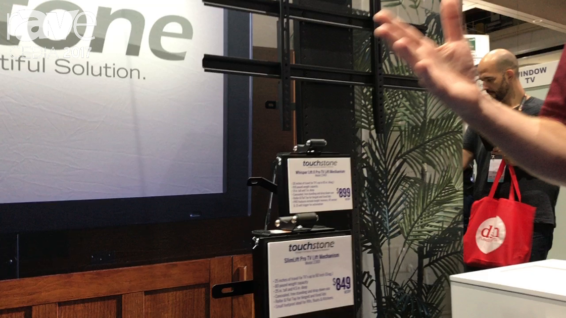 CEDIA 2017: Touchstone Displays SlimLift Pro TV Lift Mechanism