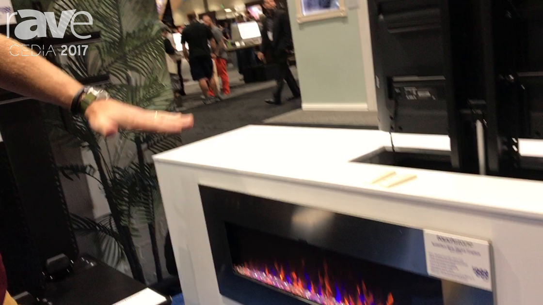 CEDIA 2017: Touchstone Exhibits AudioFlare 50 in. Electric Fireplace